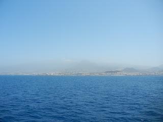 Vista de Tenerife desde el Ferry