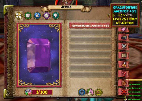 Wizard101 Socketing System and Jewels