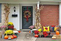 Serendipity Refined Red Yellow And Gray Fall Porch Decor