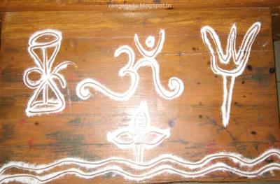 Rangolis for Shivaratri