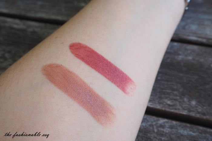 No.7 lipstick swatches berry blush honey bloom