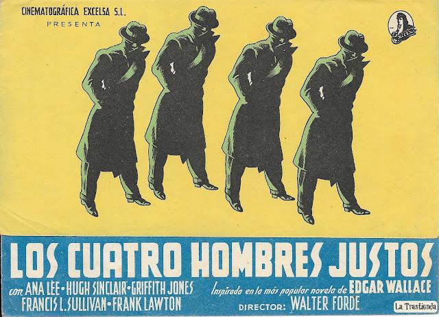 Los Cuatro Hombres Justos - Programa de Mano - Anna Lee - Hugh Sinclair
