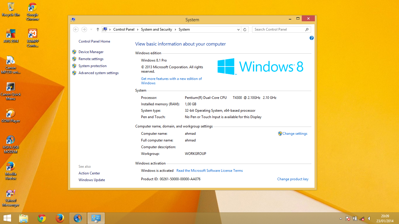 Serial Key Windows 8 1  Activasi Tanpa Software