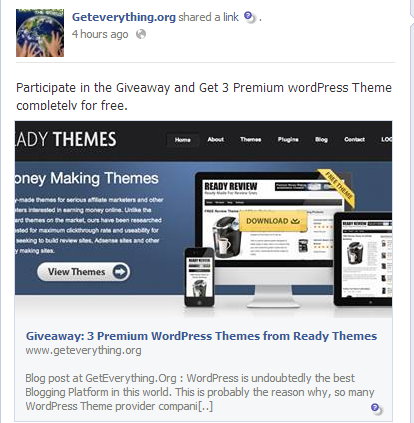 Image result for Sharing the contest on your Blogs on Facebook blog post