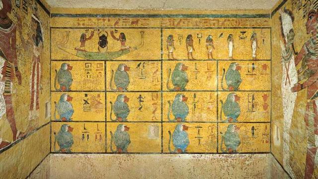 La cámaras se hallan detrás de los frescos que adornan la tumba de Tutankamón.