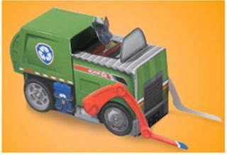 Free Printable 3D Paper: Paw Patrol Rocky's Recycling Truck .