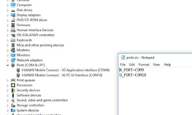 edit port ini- Unlock Modem Bolt e5372s