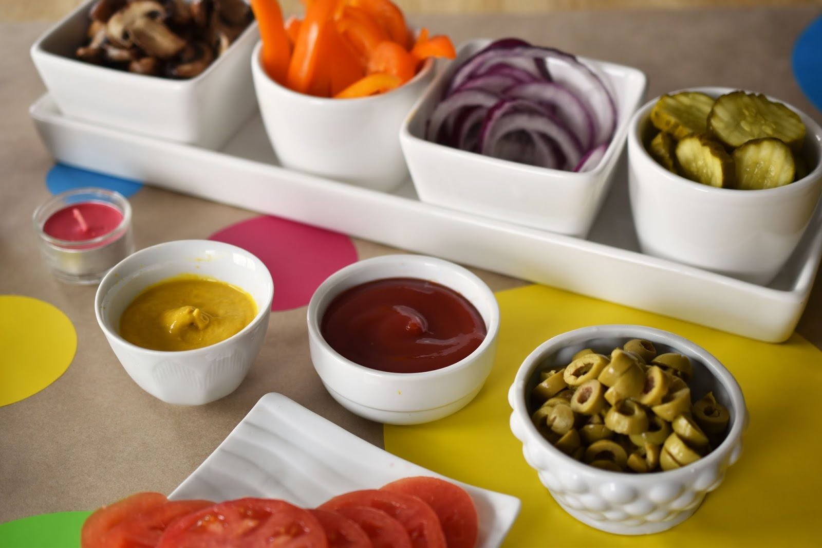 Your Veggie Burger Bar Toppings Can Be As Simple Or As Fancy As You Like.  The Kids Tend To Stick With Ketchup And Pickles. My Son Also Likes Mustard  And ...