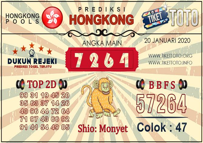 Prediksi Togel HONGKONG TIKETTOTO 20 JANUARI 2020