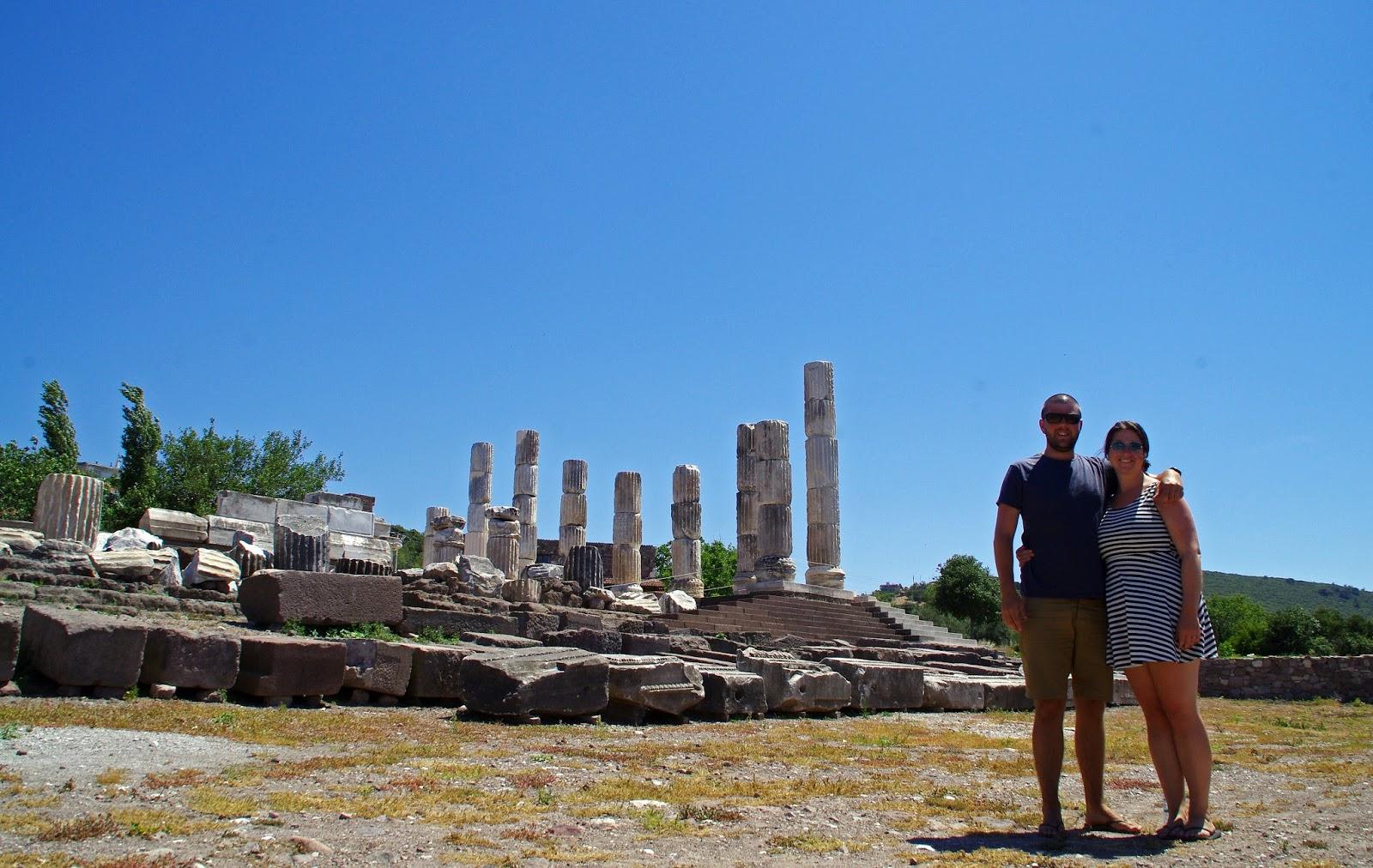 Couple at Apollon Symintheion ruins