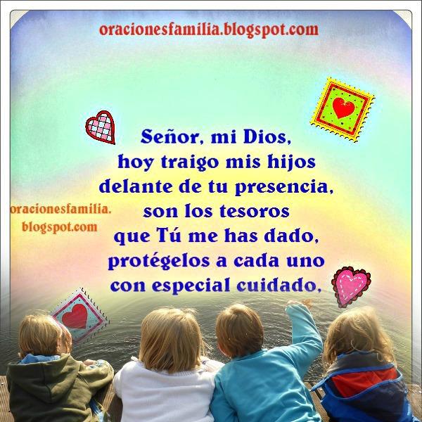 Oración corta por mis hijos, protección y cuidado de Dios sobre mis hijos, oraciones por Mery Bracho.