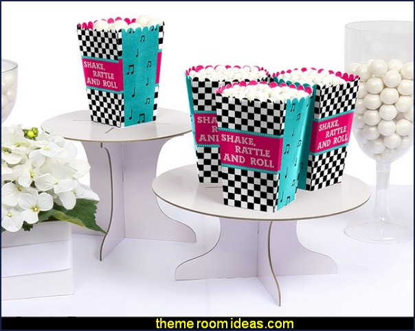 50's Sock Hop - 1950s Rock N Roll Party Favor Popcorn Treat Boxes  50s party ideas - 50s party decorations - 1950s Theme Party - 1950's Rock and  Roll Themed Party Supplies - 50s Rock and Roll Theme Party - 50s party decorations - 50s party props - 50s diner party