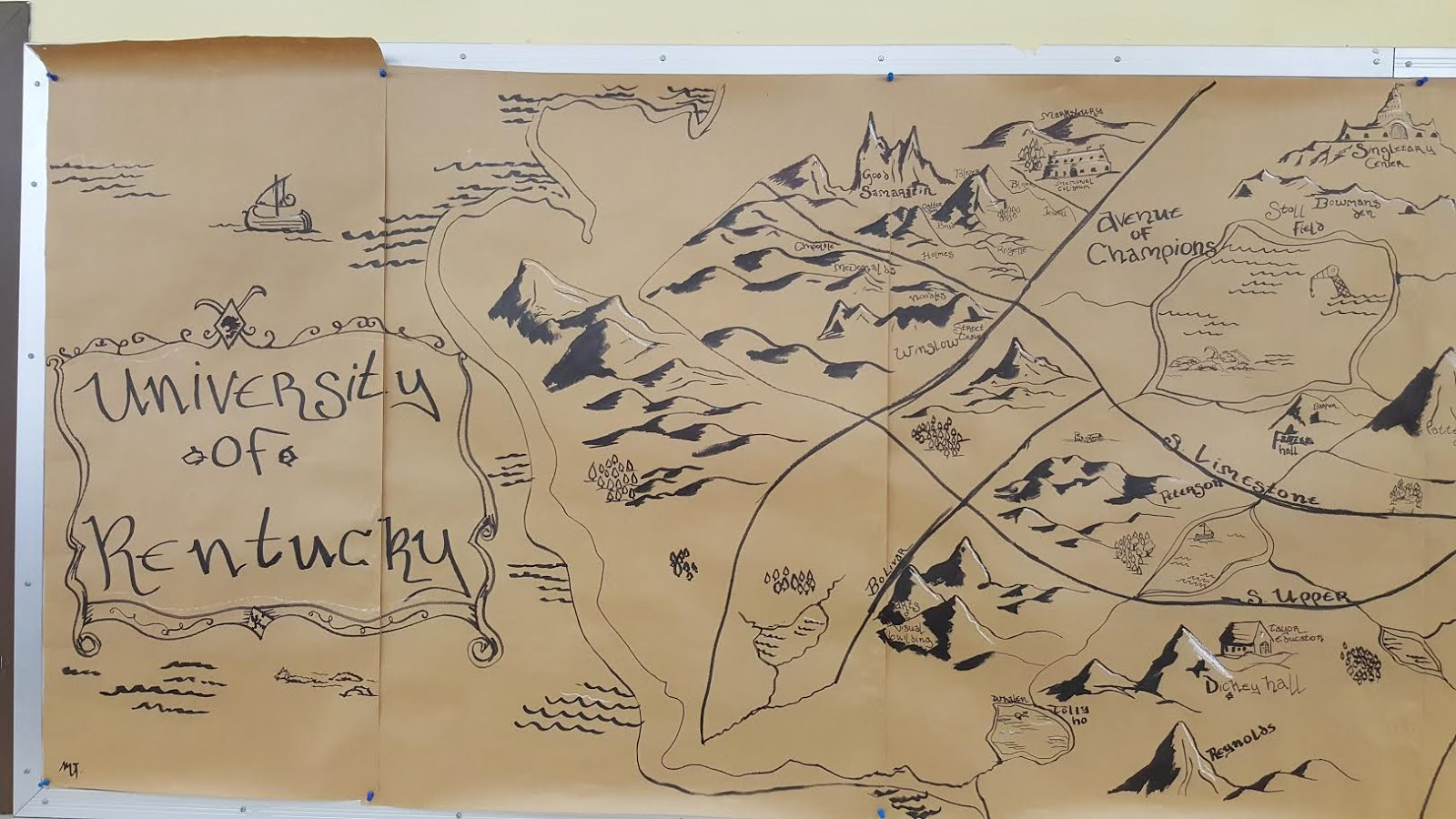 Middle Earth Map Large.Bird S Eye View Innovative Education Students Create Tolkien Middle