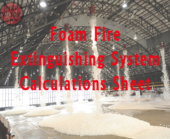 Download Foam Firefighting System Calculation Excel Sheet - free excel sheet for the design of foam fire suppression system