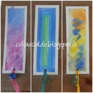 Segnalibro colorati con acquerelli