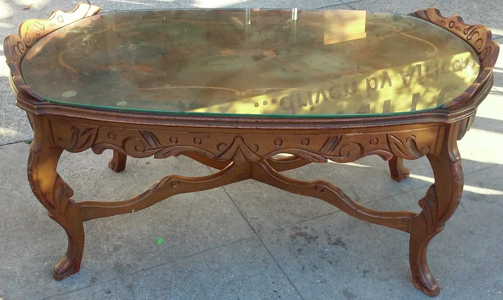 Uhuru Furniture Collectibles Sold Art Nouveau Coffee Table 40