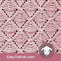 Eyelet Lace 20: Acorn Lattice | Easy to knit #knittingstitches #knittingpatterns