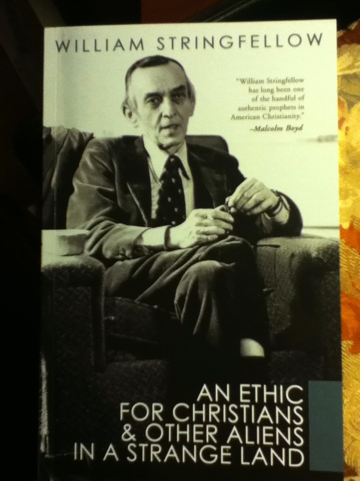Cover of William Stringfellow's An Ethic for Christians & Other Aliens in a Strange Land.