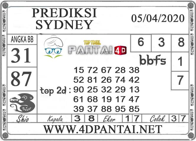 PREDIKSI TOGEL SYDNEY PANTAI4D 05 APRIL 2020