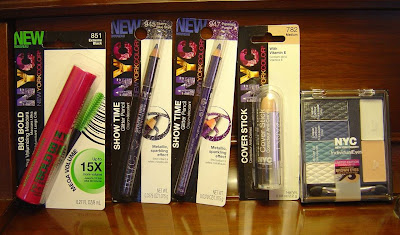 5 NYC New York Color Cosmetics eye products. jpeg