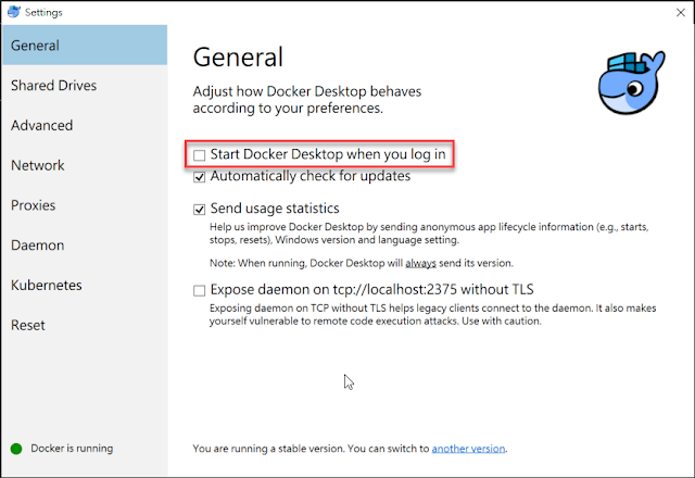 Linux-Containers-Settings-General
