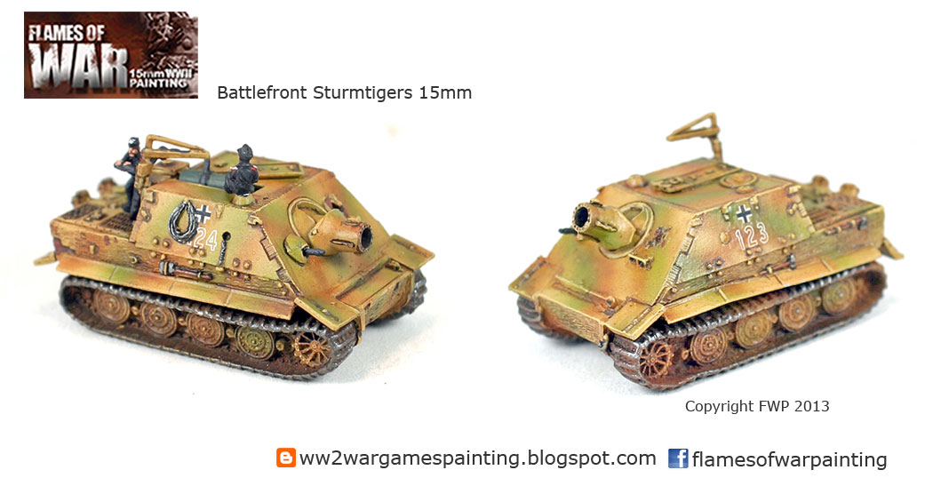 15mm Battlefront Sturmtiger painting by Flames of War Painting