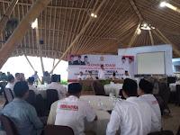 Ridwan Hidayat Pimpin Yel Yel Prabowo Presiden, HBK DPR RI