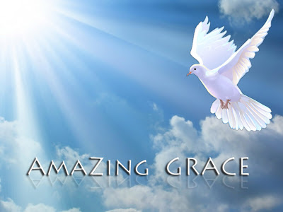 Dove above the sky with amazing grace