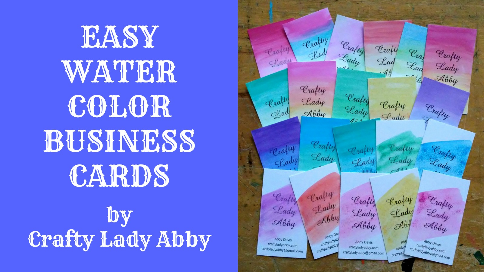 Painting diy easy water color business cards reheart