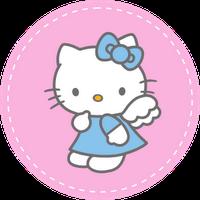 Free printable hello kitty cupcake topper free download for Hello kitty cupcake topper template