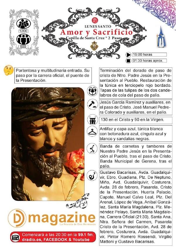 Horarios e Itinerarios Lunes Santo Semana Santa Dos Hermanas 2019