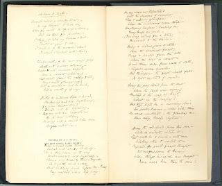 An open book of handwritten verse.