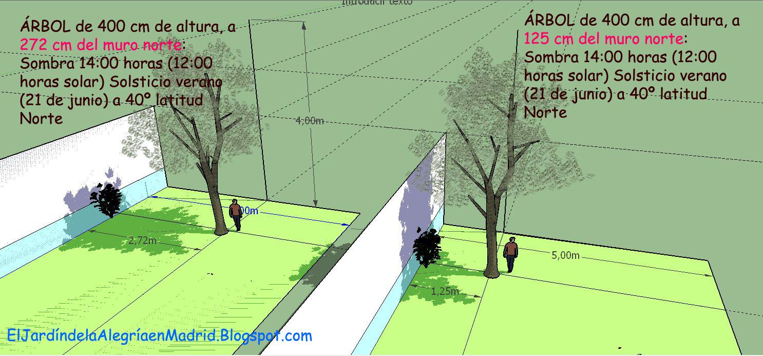 El jard n de la alegr a calculadora de sombras y otros for Arbol de sombra para jardin