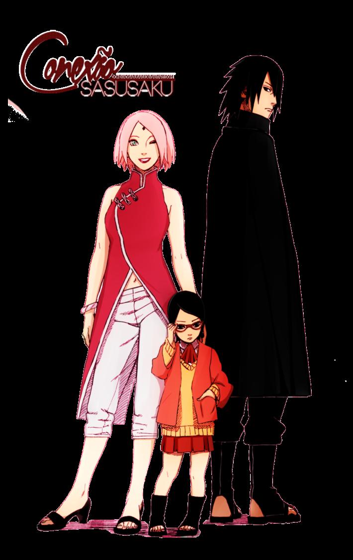 render sasuke uchiha,sakura haruno,sarada uchiha