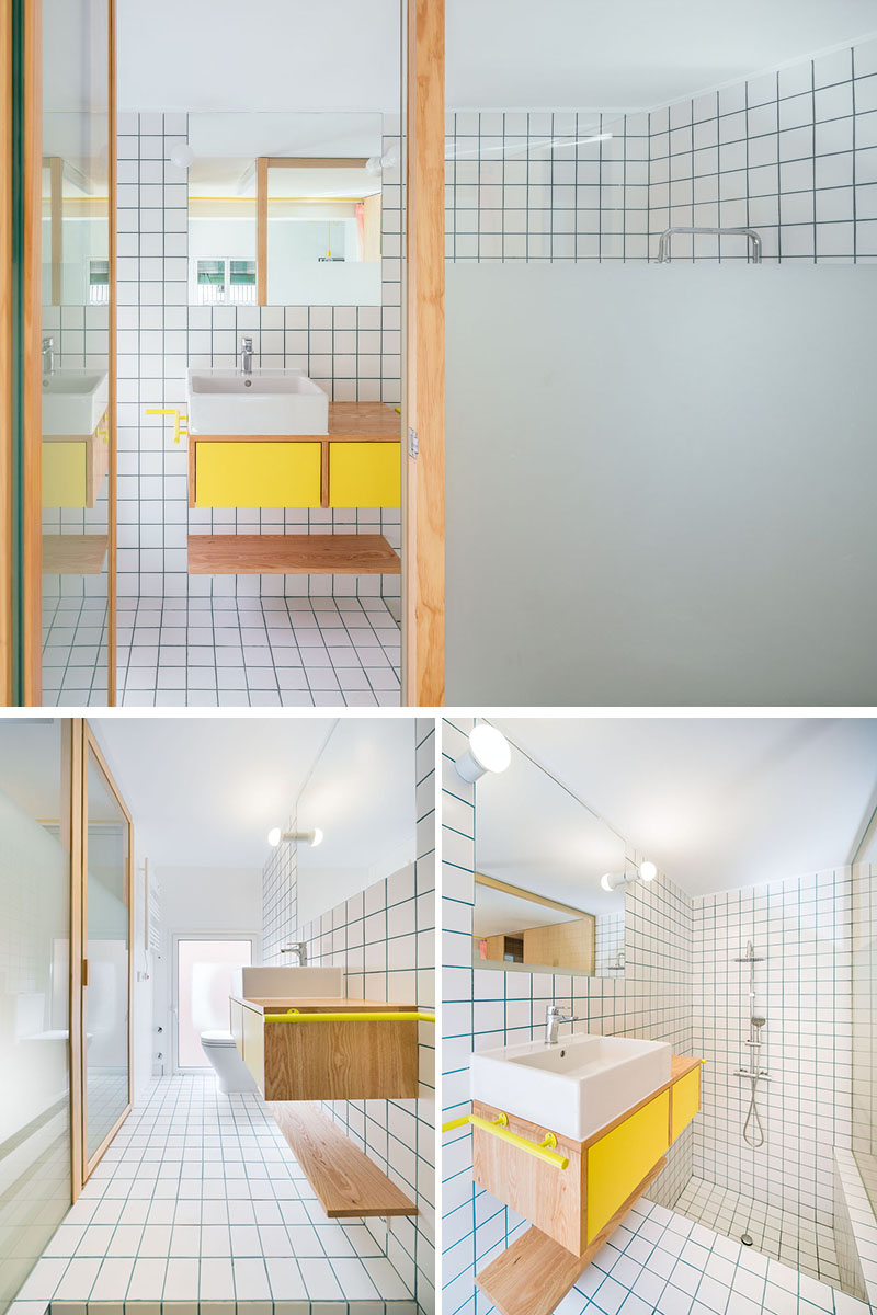 small-bathroom-with-sunken-bathtub-090318-1244-06 The Design Of This Renovation Small Apartment Includes Many Creative Storage Solution Ideas Interior