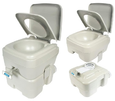 Camco Movable Toilet with 5.3 Holding and 2.5 Flush Tanks