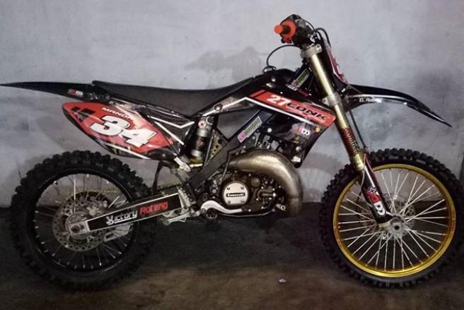 Foto Gambar Modifikasi Rangka Kawasaki Ninja Gtx Trail Motorcross