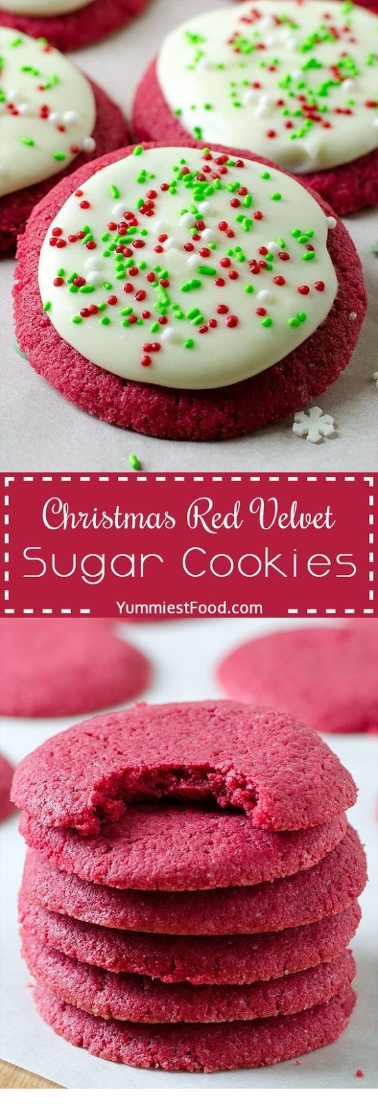 Christmas Red Velvet Sugar Cookies Recipe