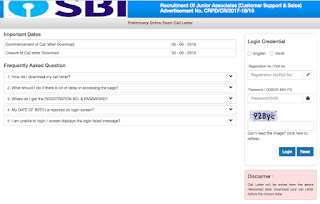 SBI Clerk 2018 | Admit Card Released -Download Now