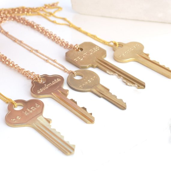 refugee key necklace