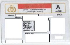 Surat Ijin Keliling (Driving License)