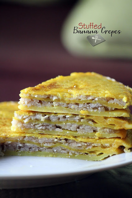 Stuffed Banana Crepes / Healthy Sweet Chattipathiri