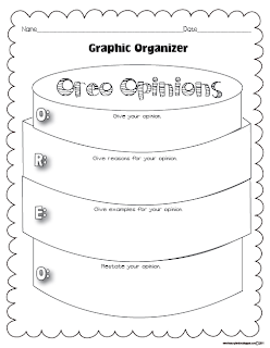 Classroom Freebies: My Opinion Oreo Graphic Organizer