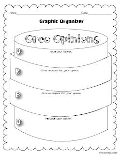 Classroom Freebies My Opinion Oreo Graphic Organizer
