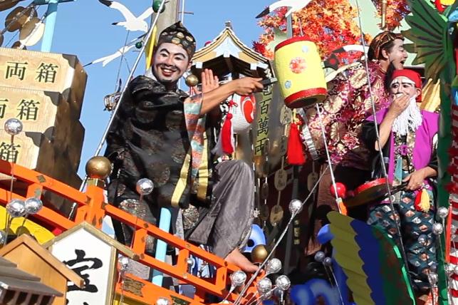 Oirase Shimoda Matsuri (float & costumed people parade), Oirase Town, Aomori Pref.