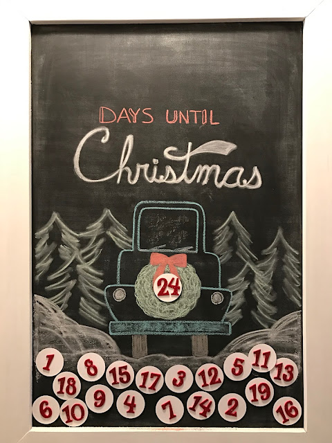 Chalkboard Christmas Countdown - LeroyLIme