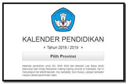 Draft Kalender pendidikan untuk SD, SMP, SMA 2019