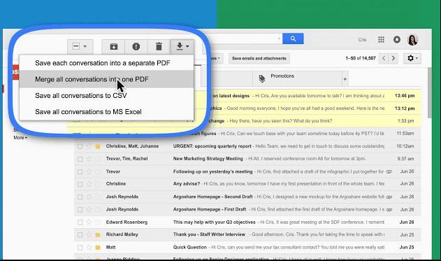 تحميل اضافة حفظ الرسائل بي دي اف Save emails to PDF - قوقل كروم