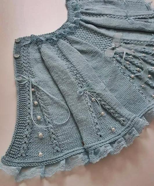 wzory ubranek dla dzieci na drutach i szydełkiem