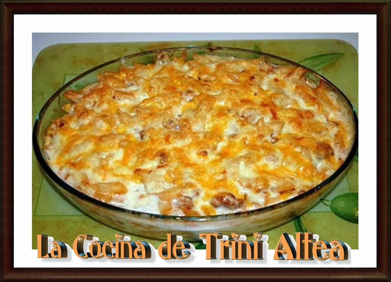La cocina de trini altea macarrones al horno con bechamel - Macarrones con verduras al horno ...